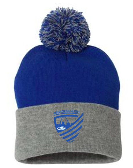Rush Beanie with Pom Pom $20.00 OUT OF STOCK